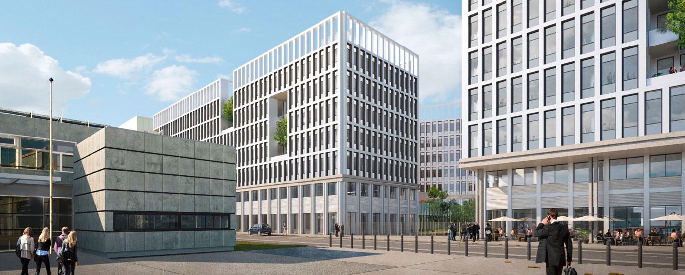 Avant-projet - Programme Delta (lot H) à la Cité Descartes : futur immeuble de 25 000m² de bureaux et 5 000 m² d'hôtel (HQE - BREEAM VERY GOOD RT 2012 -30%)