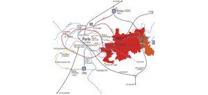 Carte de l'ancienne VDO, à Marne-la-Vallée