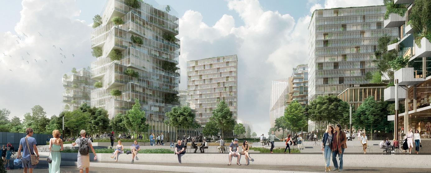 Plan 3D du jardin du métropolitain de Balcon sur Paris à Bry Villiers-Champigny