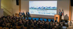 Allocution de Yann Dubosc, président du Conseil d'administration d'EPAMARNE, lors de la cérémonie des voeux 2018, à Noisiel