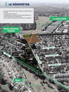 Schéma du périmètre détaillé de la Plaine des Cantoux, à Ormesson-sur-Marne