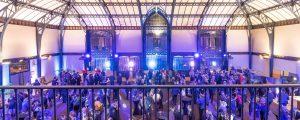 Hall de réception de Nestlé (Noisiel) aménagé pour accueillir la cérémonie des vœux 2018 EPAMARNE/EPAFRANCE