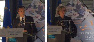 Image 1 : Allocution de Guillaume BOUDY, secrétaire général pour l'investissement (SGPI) - Image 2 : Allocution de Muriel PENICAUD, ministre du travail
