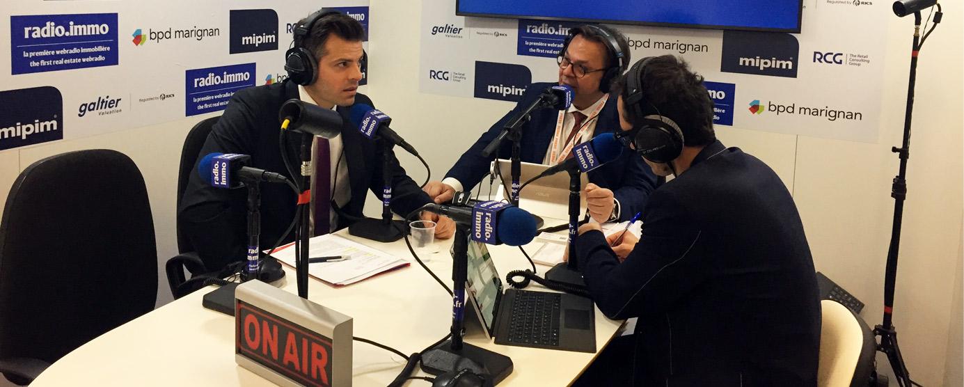 Lors du MIPIM 2018, Jean-Baptiste REY, directeur général par intérim d'EPAMARNE / EPAFRANCE a réalisé une interview radio au micro de Radio Immo (présentation des nouveaux modes de gouvernance de l'Établissement public ainsi que ses grands projets structurants pour le territoire).