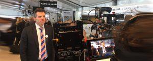 Interview télévisuelle de Jean-Baptiste Rey, directeur général par intérim des établissements public d'aménagement EPAMARNE / EPAFRANCE réalisée lors du MIPIM 2018 (le grand défi de la mobilité avec 4 gares du Grand Paris Express sur le territoire)