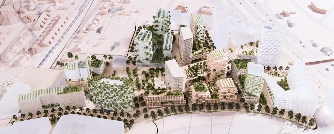 Maquette du projet urbain Marne-Europe Balcon sur Paris à Villiers-sur-Marne