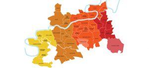 Carte : Marché par secteur industriel et logistique sur le territoire de Marne-la-Vallée.