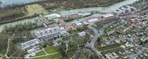 Photographie aérienne : Abords Nestle France (Ancienne Chocolaterie Menier), de la Base Nautique et du Parc de Noisiel (EPAMARNE)