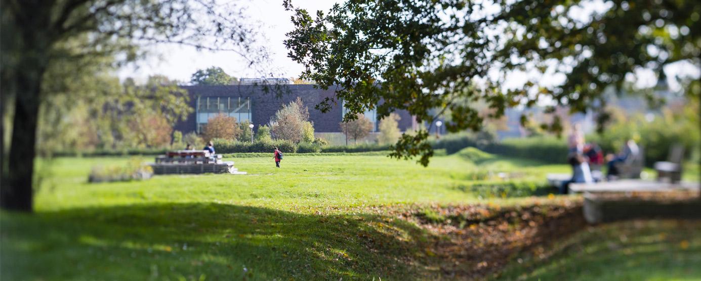 Abords de la bibliothèque Georges PEREC sur le campus universitaire de la Cité Descartes