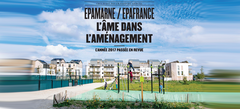 Couverture du rapport annuel EPAMARNE/EPAFRANCE 2017