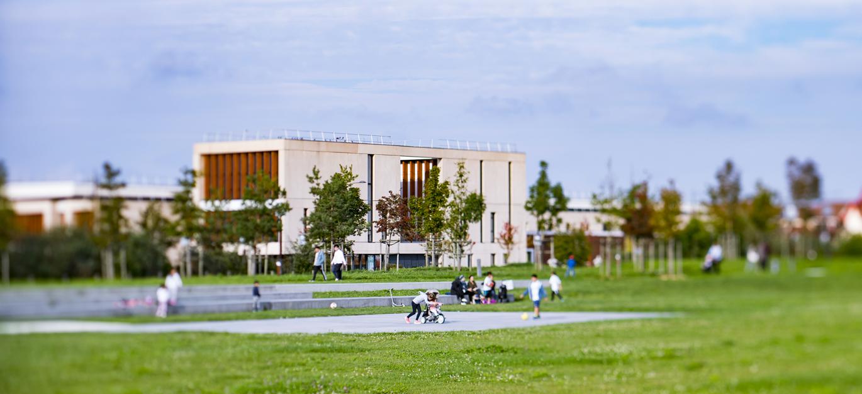 Ecoquartier de Bussy Saint-Georges : Aire de jeux et complexes locatifs