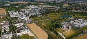 Vue aérienne du futur Campus Universitaire du Val d'Europe (2017)