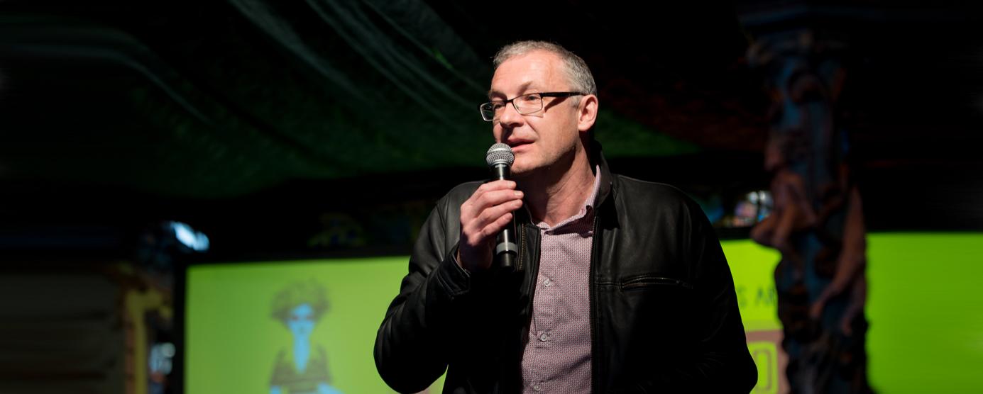 Prise de parole de Vincent Eches, directeur de la ferme du Buisson, à Noisiel