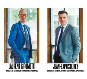Portraits de Laurent Girometti, Directeur général d'EPAMARNE/EPAFRANCE et de Jean-Baptiste Rey, Directeur général adjoint d'EPAMARNE/EPAFRANCE