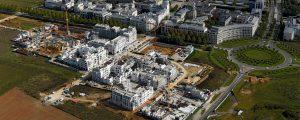 Photographie aérienne du Centre urbain du Val d'Europe à Serris et Chessy