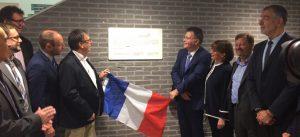 Inauguration de la Maison de l'Entreprise Innovante, le 12 juin 2018, à la Cité Descartes