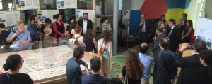 Prise de parole de Laurent Girometti lors de l'inauguration du Piano-Bar