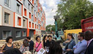 Visite de la résidence étudiante BBCA à Noisiel