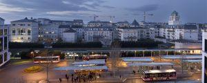 Centre urbain du Val d'Europe : Quartier de la Gare - Abords de la Gare Routière