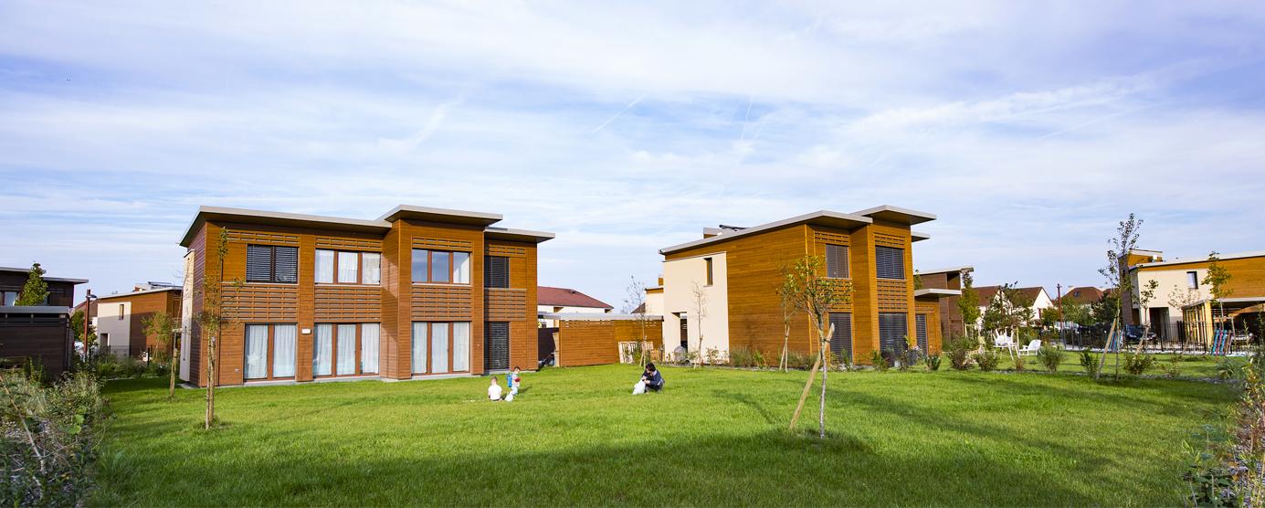 Logements en bois à Chanteloup-en-Brie