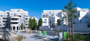 Immeuble Le Charleston, logements avec commerces dans le quartier des Studios
