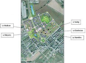 Plan indicatif de la ZAC des studios des Congrès
