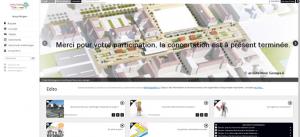 Le site internet de la consultation préalable au projet du pôle gare.