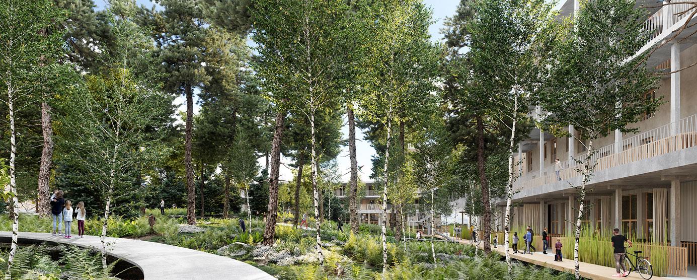 Espaces naturels, santé, bien-être, qualité de services matériels et immatériels, exemplarité environnementale et éco-construction, sont les axes structurants de ce programme.