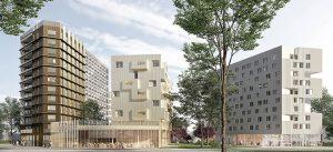 Champs-sur-Marne / Cité Descartes Un démonstrateur de la ville durable, intégrant la construction d'un immeuble de belle hauteur en bois