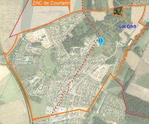 ZAC du Courtalin et situation du lot Crh9
