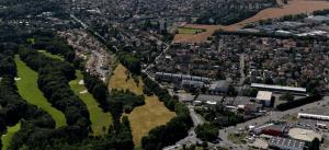 Une photographie aérienne de la ZAC de la Plaine des Cantoux